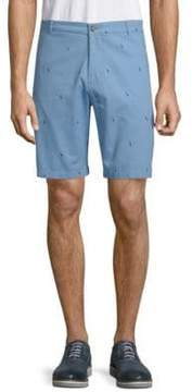 Tailorbyrd Adriel Bird Cotton Shorts