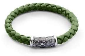 David Yurman Braided Rubber & Sterling Silver Bracelet