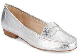 Louise et Cie Bitsy Embossed Leather Penny Loafer