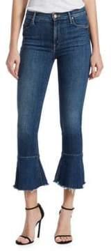 Mother Cha Cha Ruffle Hem Jeans