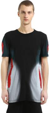 11 By Boris Bidjan Saberi Distortion Print Cotton Jersey T-Shirt