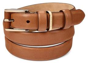 Aspinal of London Ladies Westbourne Belt In Smooth Natural Tan