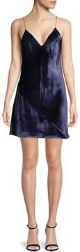 Fleur Du Mal Women's Velvet Mini Slip Dress