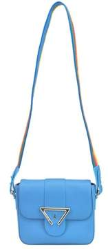 Sara Battaglia Women's Light Blue Leather Shoulder Bag.