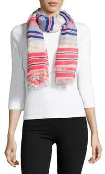 Echo Striped Fringe Edged Scarf