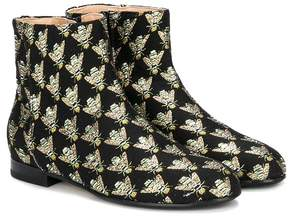 Aquazzura Mini wasp jacquard ankle boots