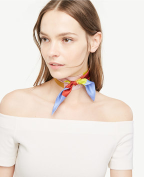 Ann Taylor Striped Skinny Silk Scarf