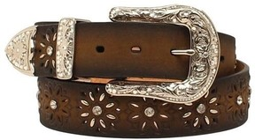 Ariat Western Woens Belt Laced Beaded Starburst A1518002