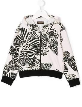 Roberto Cavalli printed hooded jacket
