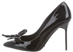 Burberry Patent Leather Bow Pumps