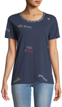 Chaser Chatty Chat Embroidered Tee