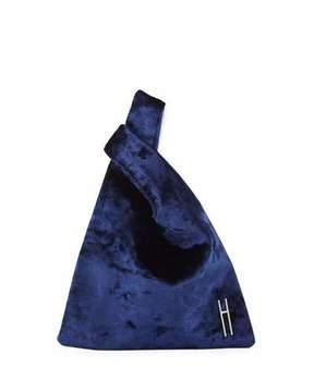 Hayward Mini Shopper Velvet Tote Bag, Blue/White