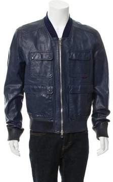 Gucci Leather Field Jacket