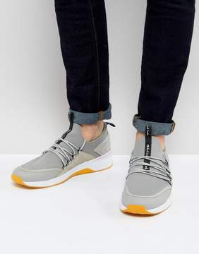 Paul Smith Rapid Speed Lace Knitted Sneaker In Gray