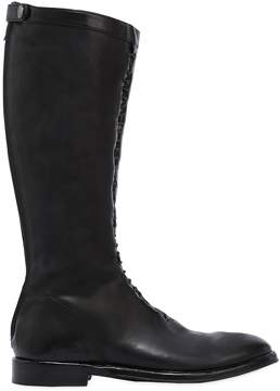 Alberto Fasciani Tall Zipped Washed Leather Boots