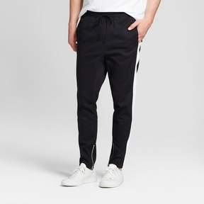 Jackson Men's Drop Crotch Twill Jogger Pants Black & White