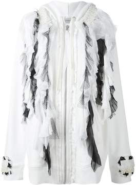 Faith Connexion ruffled tule cardi-coat