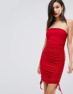 Club L Club LSlinky Bandeau Ruched Detail Dress