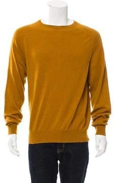 Loro Piana Suede-Trimmed Cashmere Sweater