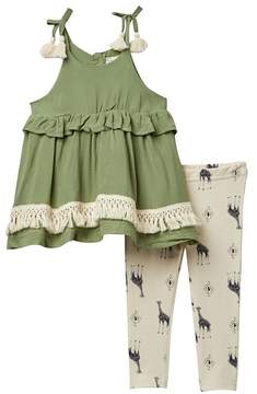 Jessica Simpson Swiss Dot Top & Leggings Set (Baby Girls)