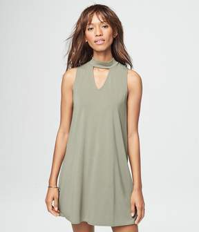 Aeropostale Solid Choker Shift Dress