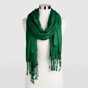 World Market Green Pashmina Style Shawl