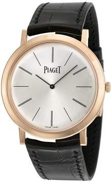 Piaget Altiplano Mechanical Silver Dial Leather Men's Watch