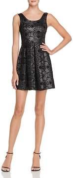 Aqua Metallic Flocked Velvet Dress - 100% Exclusive