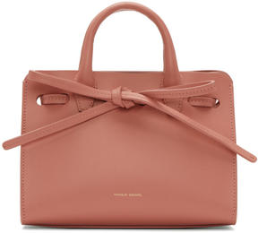 Mansur Gavriel Pink Leather Mini Mini Sun Tote