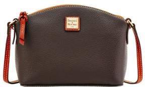 Dooney & Bourke Pebble Grain Ruby Crossbody Shoulder Bag - CHOCOLATE - STYLE