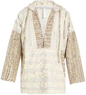 Cottweiler Faux-shearling trimmed hooded cotton-blend jacket