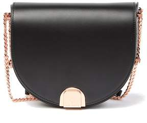 Ted Baker Izzy Flip Clasp Moon Leather Bag
