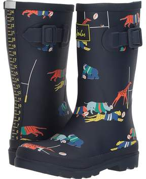 Joules Kids Printed Welly Rain Boot Boys Shoes