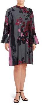 Context Plus Mockneck Bell Sleeve Sweater Dress
