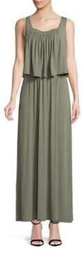 Context Embellished Neck Sleeveless Dress