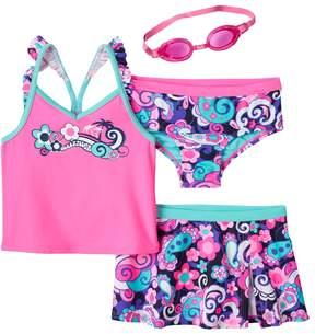 ZeroXposur Girls 4-6x Tsunami Tankini Swimsuit Set