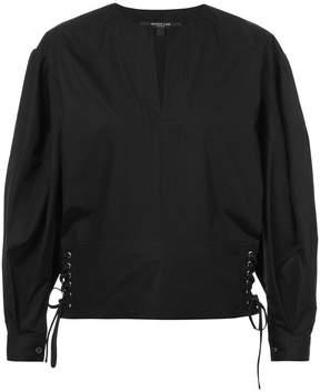 Derek Lam Long Sleeve Top with Lacing Detail