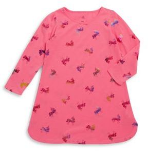 Petit Lem Little Girl's Bright Unicorn Night Gown