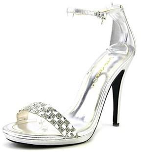 Caparros Serena Women Open Toe Synthetic Silver Sandals.