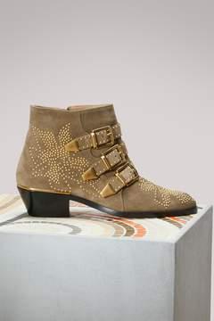 Chloé Susanna Smooth Calfskin Ankle Boots