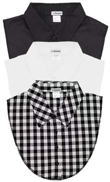 Dickies Igotcollared 3Pack of Black, White and Gingham Plaid Collared by