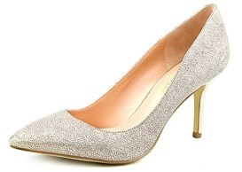 Enzo Angiolini Call Me Women Pointed Toe Leather Gold Heels.