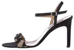 Bruno Magli Satin Ankle Strap Sandals