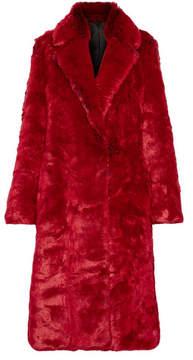 Calvin Klein Faux Fur Coat - Red