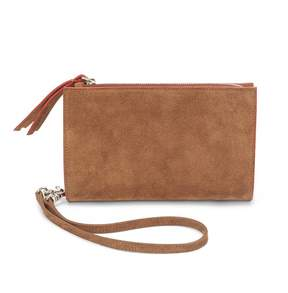 Cuyana Suede Double-Zip Pouch