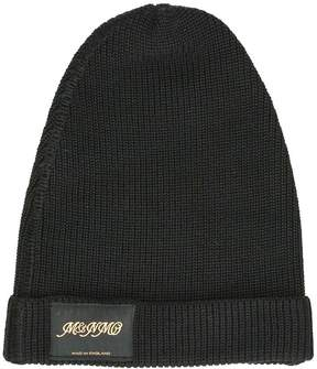 Stella McCartney Classic Black Knitted Beanie Hat