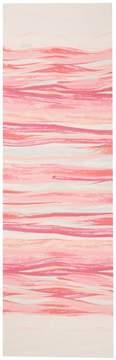 St. John Textured Brush Stroke Print Silk Georgette Scarf