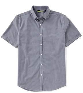 Murano Slim-Fit Gingham Performance Short-Sleeve Woven Shirt