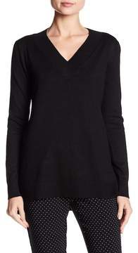 Cable & Gauge V-Neck Hi-Lo Sweater