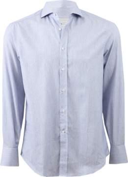 Brunello Cucinelli Chambray Spread Collar Shirt